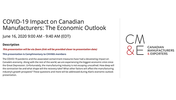 How Has COVID-19 Impacted Canadian Manufacturers and the Economy?  Find Out on June 16th.