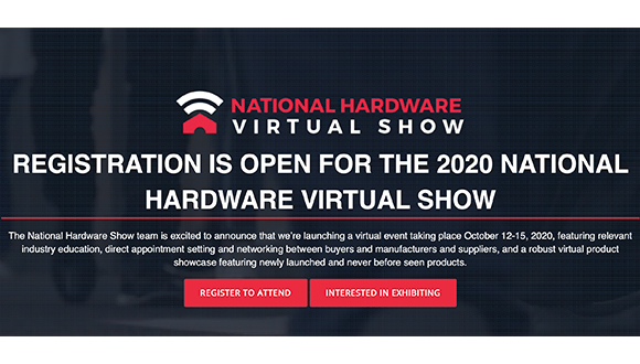 National Hardware Virtual Show October 12-15, 2020
